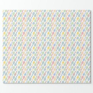 modelo colorido de las estafas de tenis papel de regalo