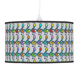 modelo colorido de las notas musicales de los lámpara de techo