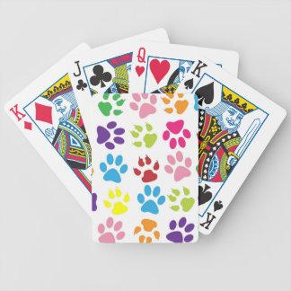 Modelo colorido de las patas barajas de cartas