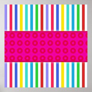 Modelo colorido de las rayas de los lunares de las póster