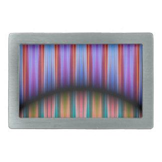 Modelo colorido de las rayas hebilla cinturón rectangular
