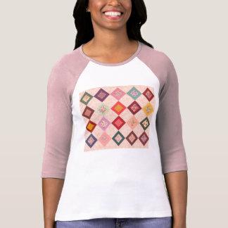 Modelo colorido de las telas camisetas