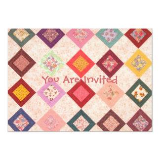 Modelo colorido de las telas invitación 12,7 x 17,8 cm