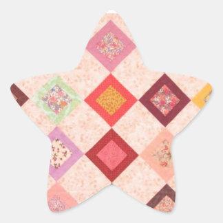 Modelo colorido de las telas pegatina en forma de estrella