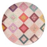 Modelo colorido de las telas platos para fiestas