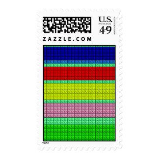 Modelo colorido de los bloques sellos