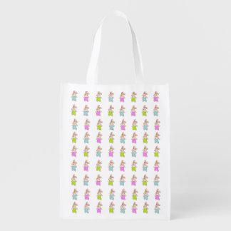 Modelo colorido de los conejitos de Maisy Bolsa Para La Compra