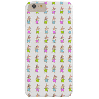 Modelo colorido de los conejitos de Maisy Funda De iPhone 6 Plus Barely There