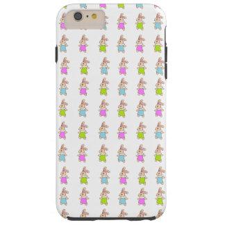 Modelo colorido de los conejitos de Maisy Funda De iPhone 6 Plus Tough