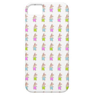 Modelo colorido de los conejitos de Maisy iPhone 5 Carcasa
