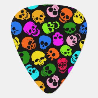 Modelo colorido de los cráneos en negro plectro