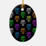 Modelo colorido de los cráneos ornamente de reyes