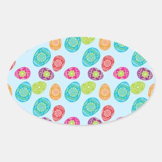 Modelo colorido de los huevos de Pascua de la Calcomanía Ovaladas Personalizadas