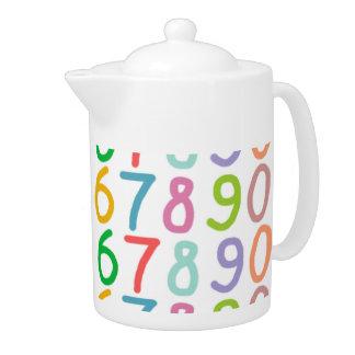 Modelo colorido de los números