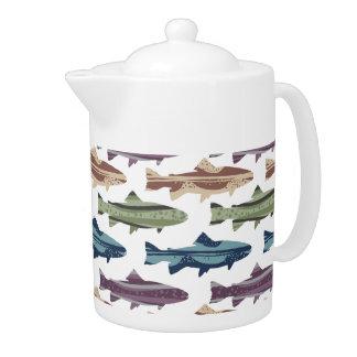 Modelo colorido de los pescados de la trucha de la