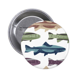 Modelo colorido de los pescados de la trucha de la pin