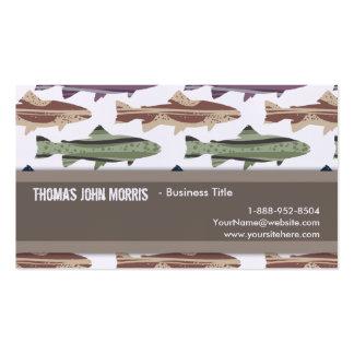 Modelo colorido de los pescados de la trucha de la plantillas de tarjetas de visita