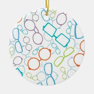 Modelo colorido de los vidrios adorno de navidad