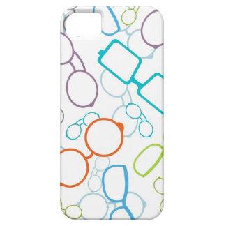 Modelo colorido de los vidrios funda para iPhone 5 barely there