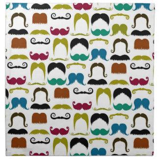 Modelo colorido de moda del bigote servilletas
