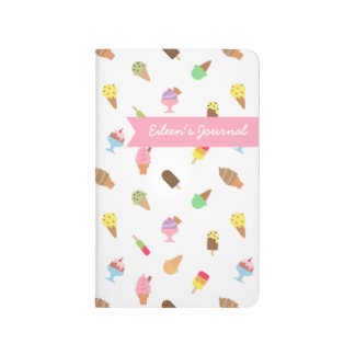 Modelo colorido de moda del helado para ella cuadernos grapados
