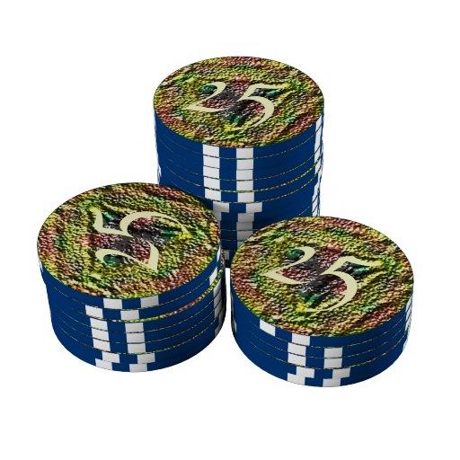 Modelo colorido de moda juego de fichas de póquer