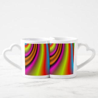 Modelo colorido de moda tazas amorosas