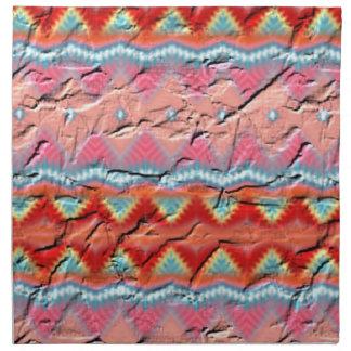 Modelo colorido de moda servilletas imprimidas