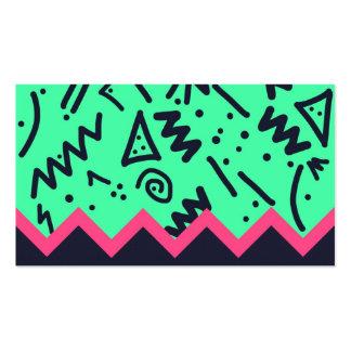 Modelo colorido de neón de las formas de la tenden plantillas de tarjetas de visita