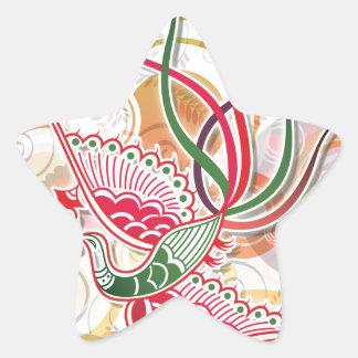 Modelo colorido de Phoenix Calcomanía Cuadrada Personalizada