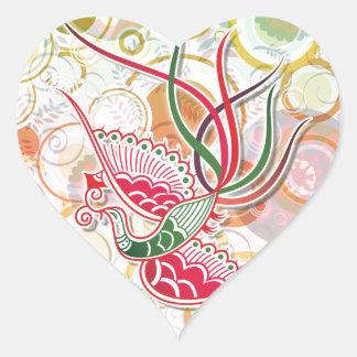 Modelo colorido de Phoenix Pegatina Corazón