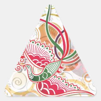 Modelo colorido de Phoenix Pegatina Trianguladas Personalizadas