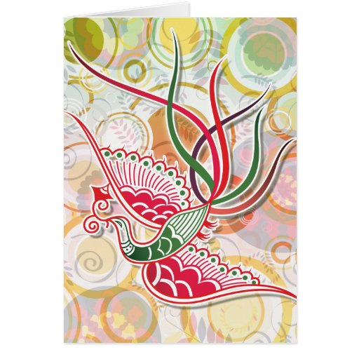 Modelo colorido de Phoenix Tarjeta De Felicitación