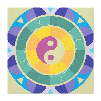 Modelo colorido de Yin Yang Impresión En Lona Estirada