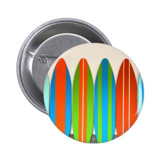 Modelo colorido Deisgn de la tabla hawaiana Pin Redondo De 2 Pulgadas