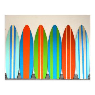 Modelo colorido Deisgn de la tabla hawaiana Tarjeta Postal