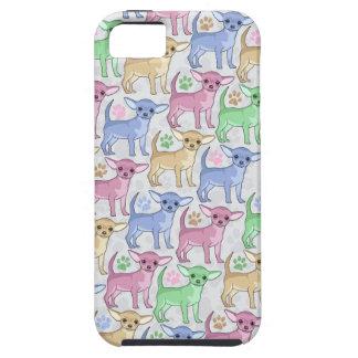 Modelo colorido del amante de la chihuahua iPhone 5 carcasas