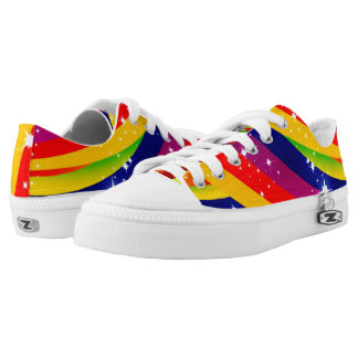 Modelo colorido del arco iris de la chispa zapatillas