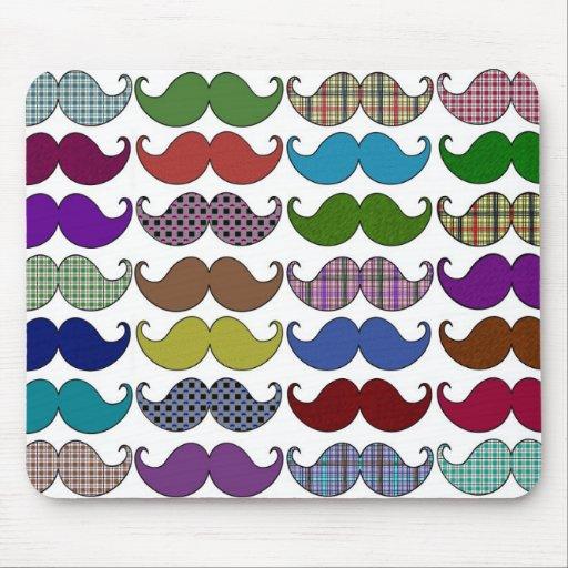 Modelo colorido del bigote mouse pad