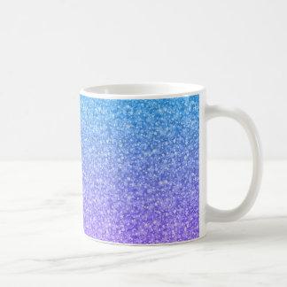Modelo colorido del brillo y de las chispas tazas