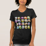 Modelo colorido del búho camisetas