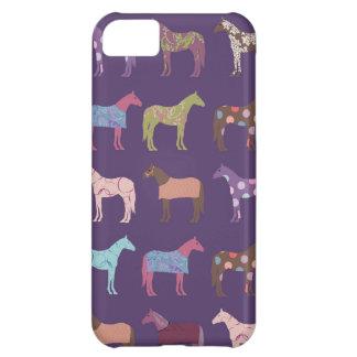 Modelo colorido del caballo funda para iPhone 5C
