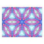 Modelo colorido del caleidoscopio azul y rosado fotografias