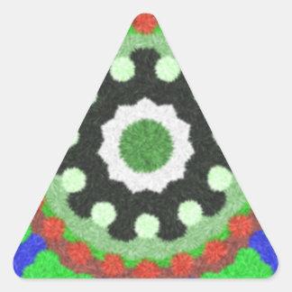 Modelo colorido del caleidoscopio pegatina triangular