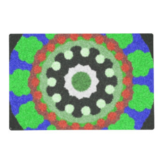 Modelo colorido del caleidoscopio salvamanteles