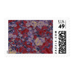 Modelo colorido del camuflaje de la hoja y de la sello postal