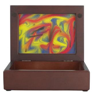 Modelo colorido del caos cajas de recuerdos