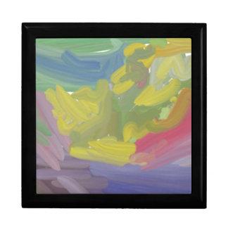 Modelo colorido del caos cajas de joyas