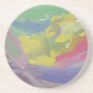 Modelo colorido del caos posavasos para bebidas