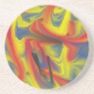 Modelo colorido del caos posavaso para bebida